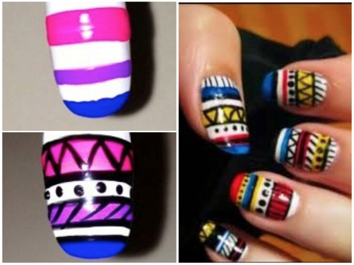 Diy tribal nail art diy prinsesfo Image collections