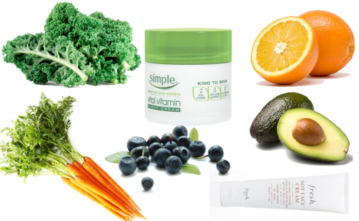 Vitamins for healthy skin complexion