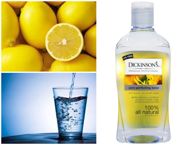Lemon juice facial toner