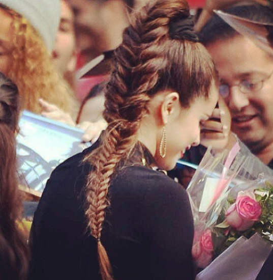 Selena Gomez Fishtail Braid