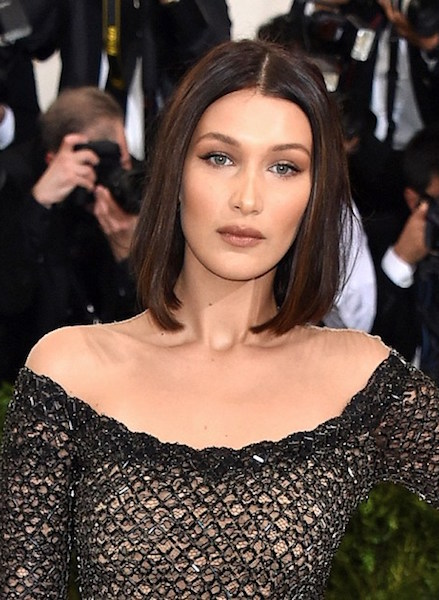 "NEW YORK, NY - MAY 01:  Model Bella Hadid attends ""Rei Kawakubo/Comme des Garcons: Art Of The In-Between"" Costume Institute Gala at Metropolitan Museum of Art on May 1, 2017 in New York City.  (Photo by John Shearer/Getty Images)"
