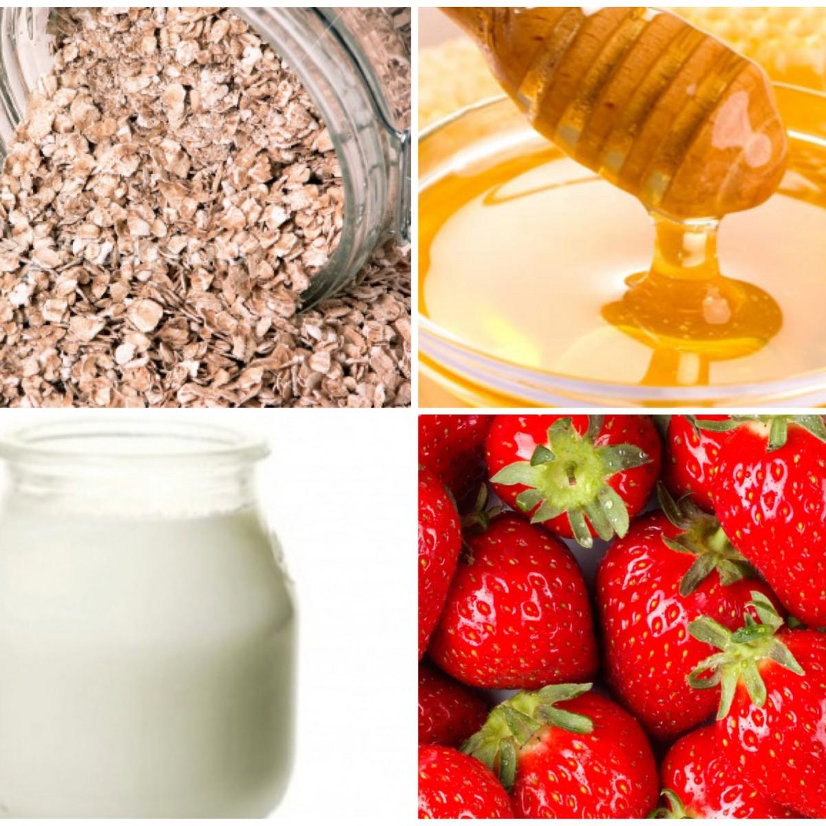 Diy Oatmeal Honey Yogurt Strawberry Mask Beauty Banter